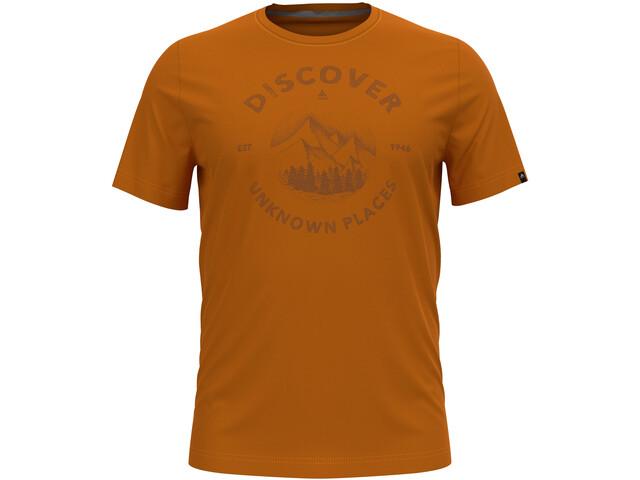 Odlo Nikko Print T-Shirt S/S Crew Neck Men, marmalade/graphic